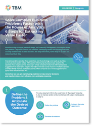 Prescriptive business analytics infographic cover